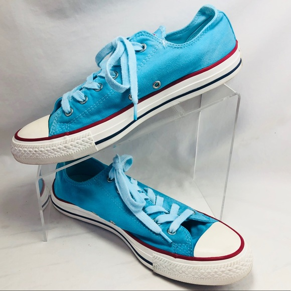 Converse Chuck Taylor Womans 8 Turquoise Red Shoes d8b814b96